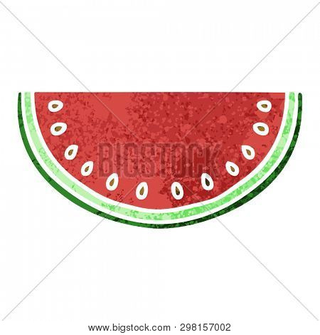 retro illustration style quirky cartoon watermelon