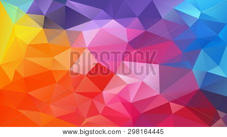 Vector Abstract Irregular Polygon Background - Triangle Low Poly Pattern - Full Spectrum Multi Color