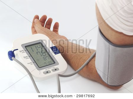 Medical situation, a elctronic instrument that measure Blood pressure poster