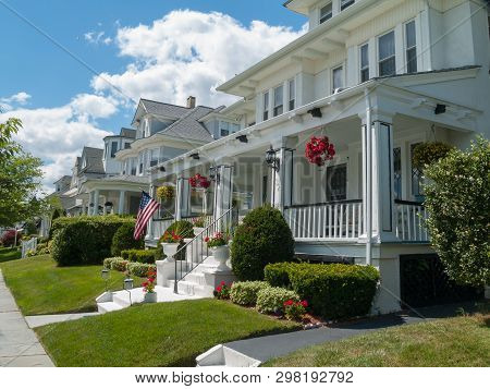 Ocean Grove, New Jersey - June 30: Quaint Homes On A Beautiful Summer Day On June 30 2007 In Ocean G