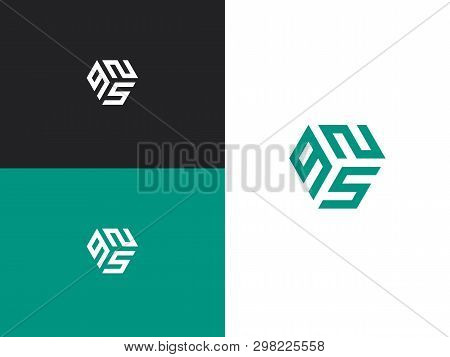 Combination Number, Stylish Vector Emblem For Design
