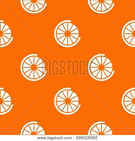Sign incomplete download pattern repeat seamless in orange color for any design. geometric illustration poster
