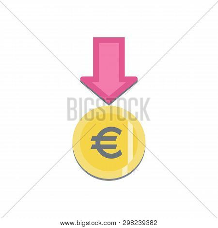 Donate Button With Euro Sign. Help Colorful Sticker. Gift Charity. Isolated Support Design. Contribu