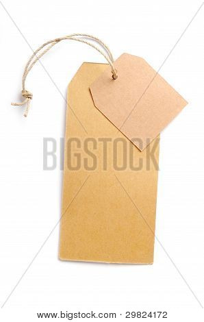 Paper tags Isolated