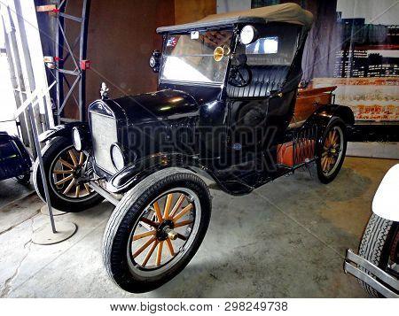 Yekaterinburg, Russia - 05/02/2019: Exhibition Of Retro Cars. Car