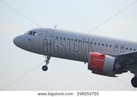 Amsterdam The Netherlands - April 22nd, 2019: Ei-sih Sas Scandinavian Airlines Ireland Airbus A320ne