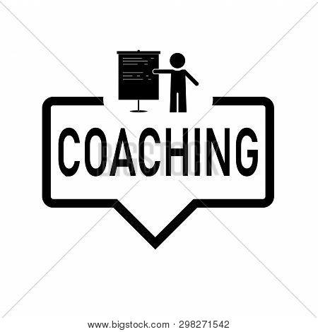 Coaching Sign. Coaching Paper Speech Bubble. Coaching Tag. Coaching Banner