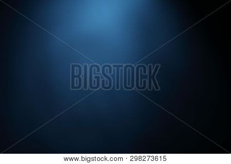 Blue Black Abstract Background Blur Gradient, Abstract Luxury Blue Color Gradient, Used As Backgroun