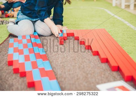 Montessori Education. Montessori School. Learning Materials In A Montessori Methodology School. Geom
