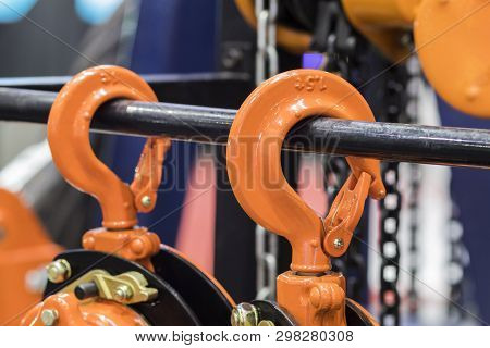 The Hook For Industrial Crane ; Close Up