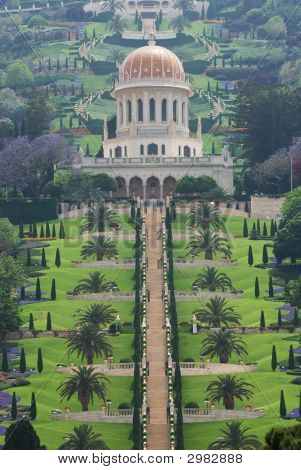The Bahai Temple And Garden In Haifa