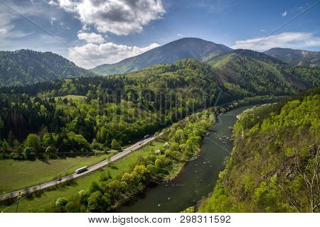 Domasinsky Meander And River Vah At Slovakia