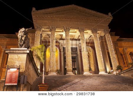 Theatre Massimo By Night