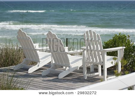 Deck Chairs at the Beach