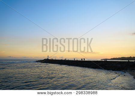 Terre-sainte Sunset, Saint-pierre, South Of Reunion Island