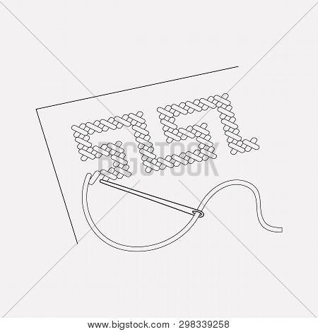 Cross-stitch Icon Line Element. Vector Illustration Of Cross-stitch Icon Line Isolated On Clean Back