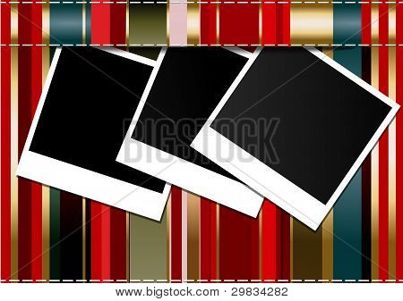 Photo Frames On Colorful Background