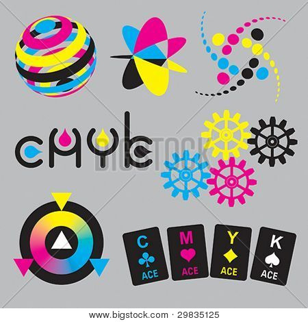 CMYK concepts and design elements