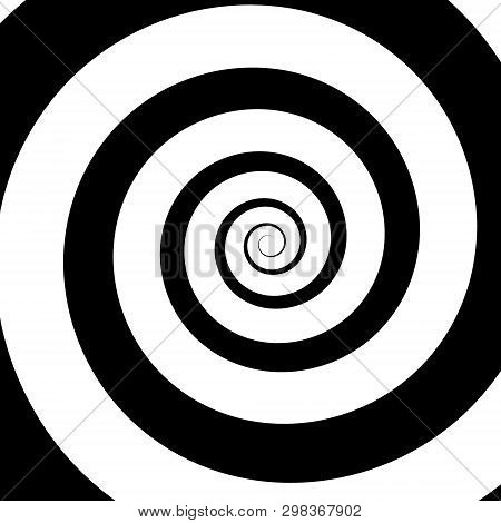 Psychedelic Spiral With Radial Rays, Twirl, Twisted Comic Effect, Vortex Backgrounds. Hypnotic Spira
