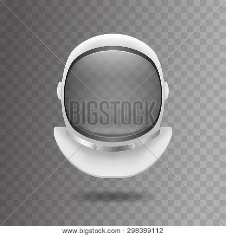 Realistic 3d Detailed White Cosmonaut Helmet. Vector