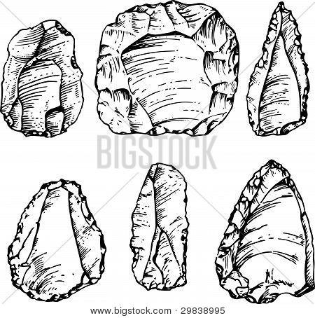 Ancient big stone tools