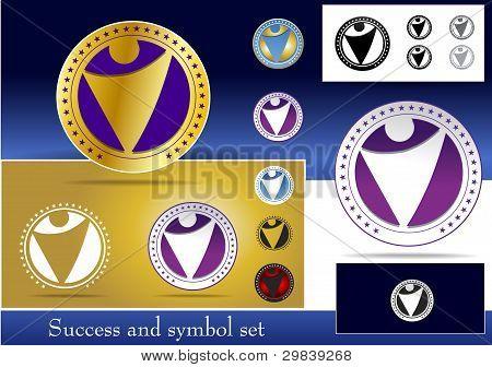 Success And Symbol Set
