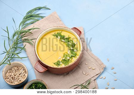 Dietetic Smooth Creamy Highly And Seasoned Soup