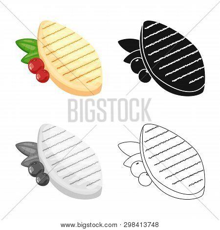 Vector Illustration Of Filet  And Chicken Logo. Collection Of Filet  And Hot Vector Icon For Stock.