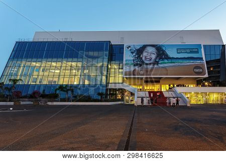 Cannes, France - July 05, 2015: Palace Of Festivals And Congresses - The Venue Of The Cannes Film Fe