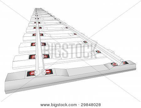 Railway Track Illustration