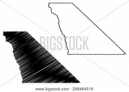 Inyo County, California (counties In California, United States Of America,usa, U.s., Us) Map Vector