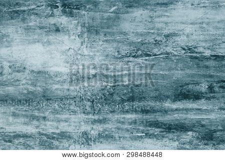 Dark Gray Paint Stains On Canvas. Abstract Illustration With Dark Green Blots On Soft Background. Cr