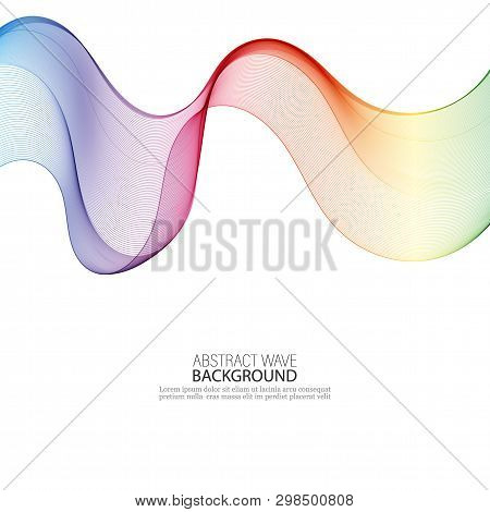 Abstract Colorful Background With Wave, Illustration, Vector Eps10