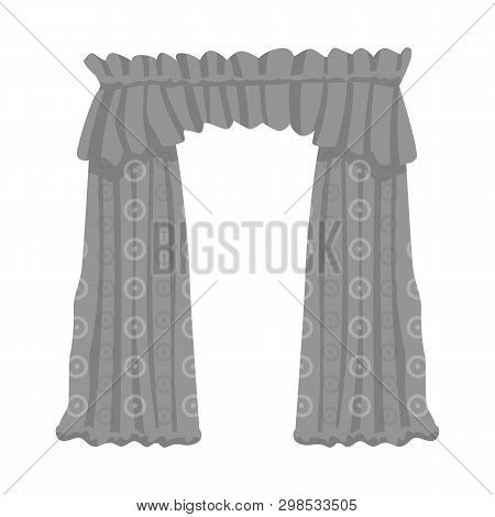 Isolated object of drapes and cornice logo. Set of drapes and cosiness stock symbol for web. poster