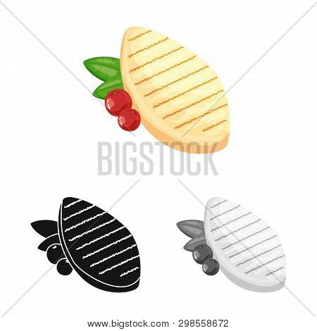Vector Design Of Filet  And Chicken Logo. Collection Of Filet  And Hot Stock Symbol For Web.