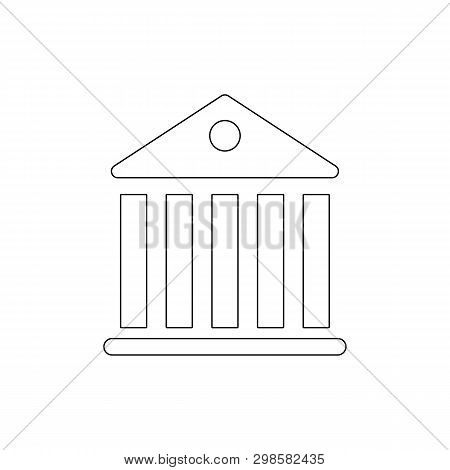 Government Pantheon Building Outline Icon. Signs And Symbols Can Be Used For Web, Logo, Mobile App,