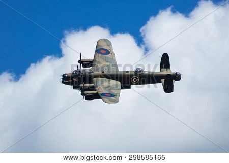 Raf Coningsby, Lincolnshire, Uk, September 2017, Avro Lancaster Bomber Pa474 Of The Battle Of Britai