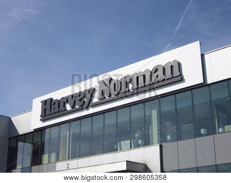 Ljubljana, Slovenia - March 22 2019: Harvey Norman Store Is A Large Australia Based Retailer Of Elec