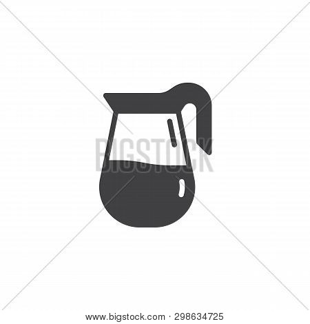 Coffee Jug Vector Icon. Filled Flat Sign For Mobile Concept And Web Design. Coffee Pot, Carafe Glyph