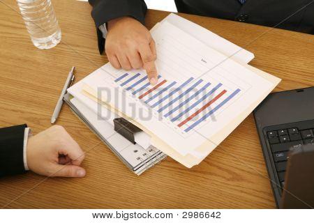 Close Up Showing Sales Figure