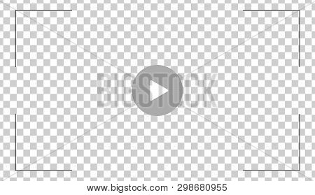 Play Video Button Icon, Sign Vector Isolated On Transparent Background