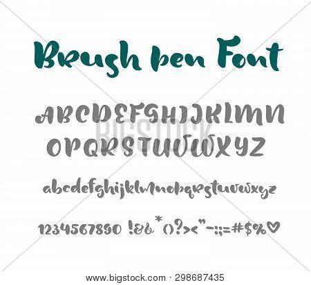 English Alphabet Handwritten Vector Script On White Background. Informal Handwriting Handwritten Fon