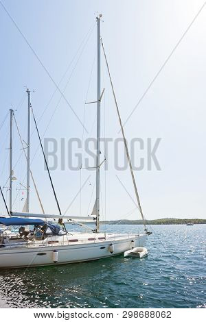 Sibenik, Croatia, Europe - Sailing Boats At The Harbor Of Sibenik