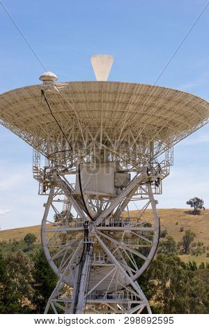 Canberra, Australia - December 19th 2013: Decommissioned And Historical Dss-46 Earth Station Antenna