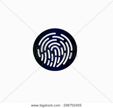 Web Icon - Fingerprint Password Smartphone - Flat Design