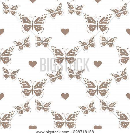 Set Of Hand Drawn Butterflies. Entomological Collection Of Highly Detailed Hand Drawn Butterflies. R