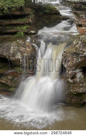 Upper Falls Flow At Old Mans Cave