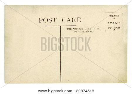 Old Post Card And Mark