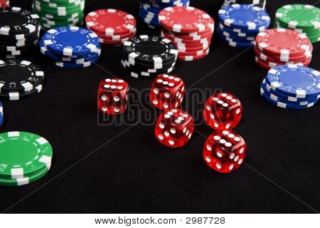 Lucky Dice And Chips