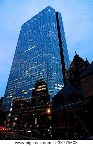Boston, Massachusetts, Usa - 20th July 2014 : View On The John Hancock Tower And Surrounding Buildin